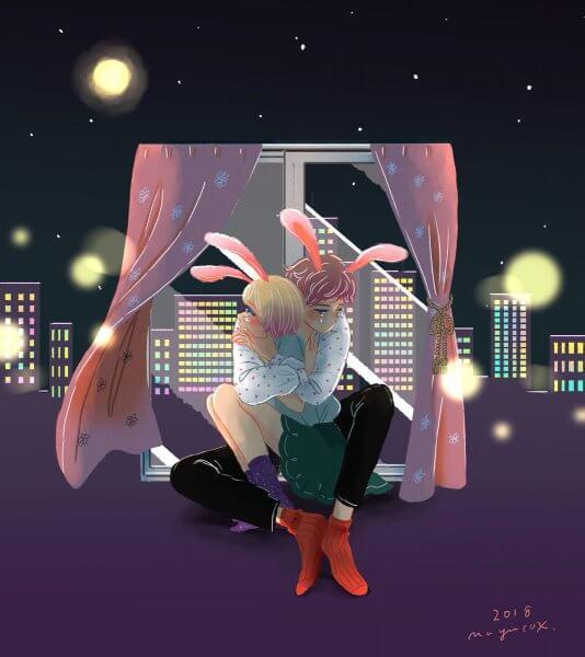 都会のウサギは二人で泣いて